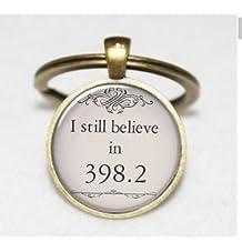 I Still Believe in 398.2 Keychain , Fairy Tale Keychain , Book Keychain , Book Jewelry, Book Jewellery Keychain