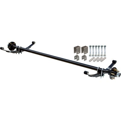Ultra-Tow 2000-Lb. Capacity Complete Axle Kit - 60in. Hubface, 48in. Spring Center, 5-Stud Pattern, 4.5in. (2000 Lb Trailer Axle)