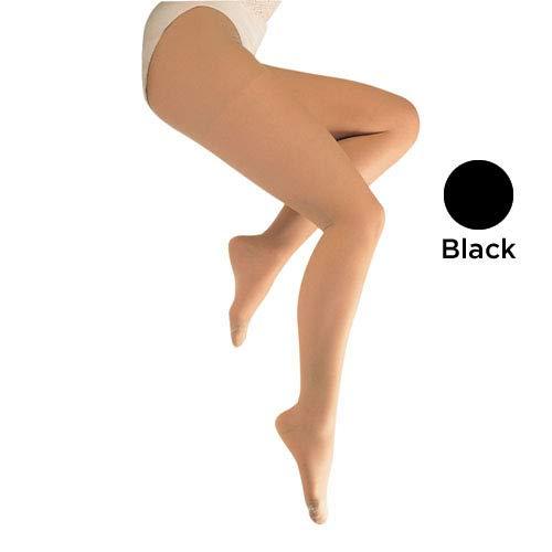 Blue Jay Sheer Support Medical Legwear in Black – 15-20mmHg, Tall Closed Toe Pantyhose, Firm Support Compression Legwear
