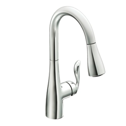 moen arbor onehandle high arc pulldown kitchen faucet chrome 7594c
