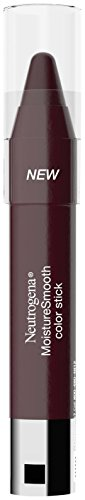 Neutrogena Moisturesmooth Color Stick, 180/Deep Plum, 0.011 Ounce