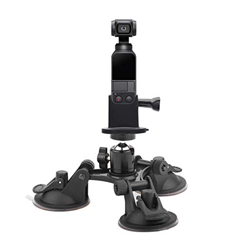 Price comparison product image Celendi Helicopter Suction Cup Car Holder Tripods Mount + Base Adapter for DJI OSMO Pocket