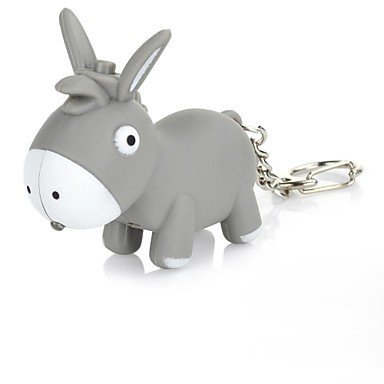Cartoon Donkey LED Keychain Flashlights(AG10*3) (Cartoon Flashlight Keychain)