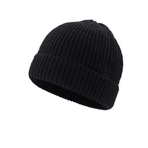 encapuchadas Las Caliente Que Invierno de Hace Sombrero Sombrero del los Hombres e de AiNaMei Punto Black Lanas del otoño wvqg8I