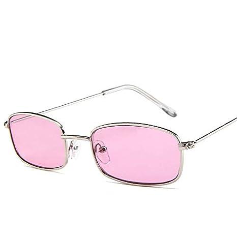 SUNNYBQM Gafas De Sol Pequeñas Tonos Retro Rectangular Gafas ...
