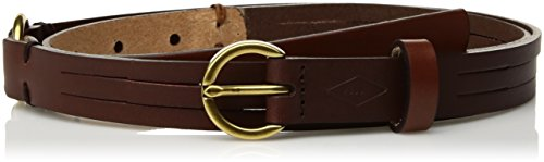Fossil Casual Belt (Fossil Women's Skinny Colorblock Leather Belt Accessory, -tan,)