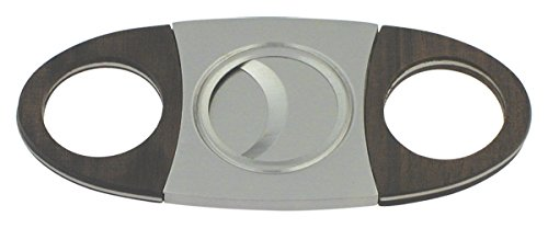 The Big Easy Tobacco Accessories 9622 Double Guillotine Cigar Cutter Stainless Steel Ebony Wood Grips-9622