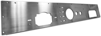 3 Pieces Rugged Ridge 11144.01 Stainless Dash Overlay
