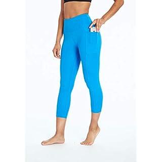 Bally Total Fitness High Rise Pocket Mid-Calf Legging, Ibiza Blue, Large