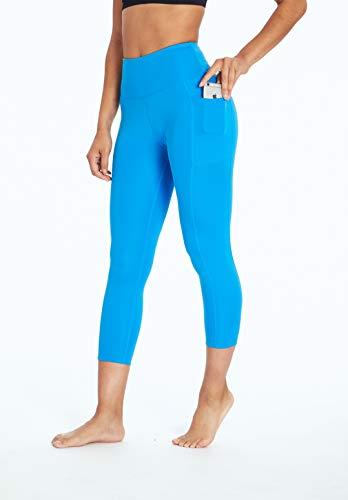 Bally Total Fitness High Rise Pocket Mid-Calf Legging, Ibiza Blue, Medium