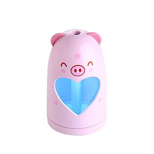 - bjlongyi Mini USB Air Humidifier,180ML LED Cute Animal Style Home Car Aroma Humidifier Essential Oil Diffuser Pink