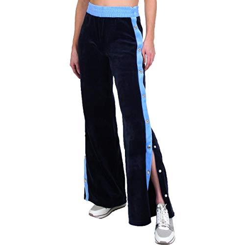Juicy Couture Black Label Breakaway Womens Wide Leg Velour Pants Navy Size -