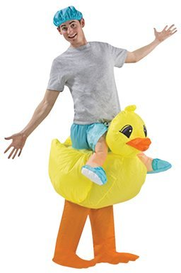 High Quality Airblown Inflatable Rubber Duckie Duck Racer Adult Costume