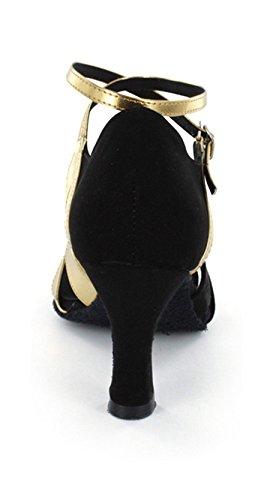 TDA - salón mujer negro y dorado