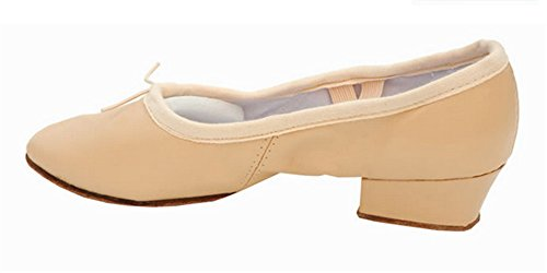 staychicfashion Women's Low-Heeled Leather Ballet Belly Dance Shoes Soft-soled Practice Flat