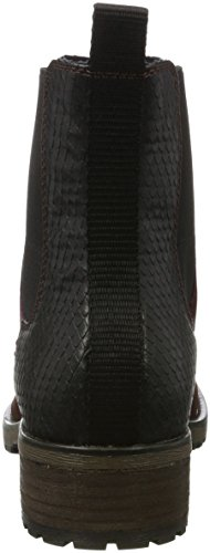 SPM Women's Maggy Chelsea Boots Multicolour (Black/Burgundy 01573) 2rWOtawN