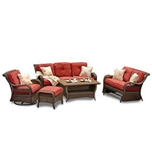 Amazon Com Agio 6 Piece Pinehurst Seating Set Garden