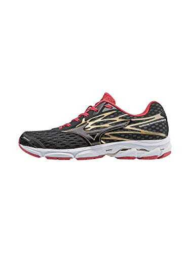 Mizuno Men's Wave Catalyst 2 Running Shoe, Black/Chinese Red, 10 D US