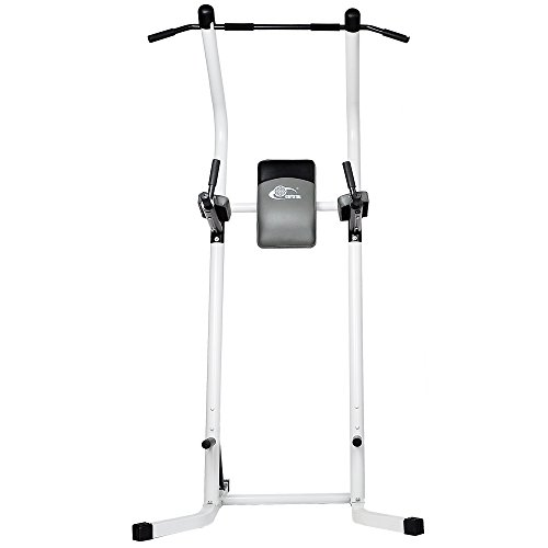 XPH Pull Up Dip Station Power Tower Workout Tower Fitness Station Body Tower Sports Equipment Pull Up Bar Standing Tower Home Fitness Workout Station (white) by XPH (Image #3)'