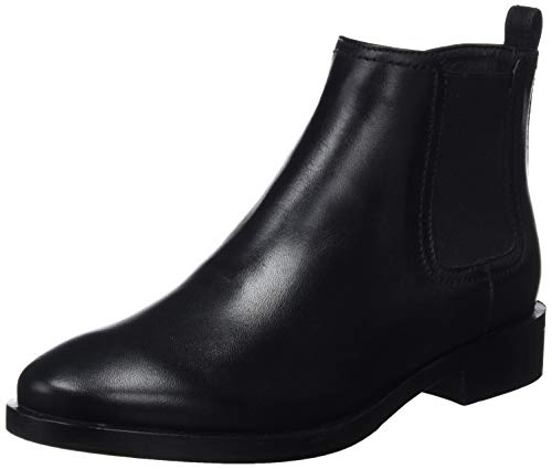 Donna Botas A Chelsea Geox Para Mujer Negro Brogue qdCn7