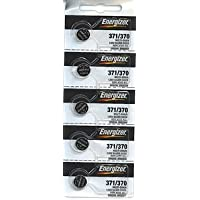 Energizer 371 / 370 Silver Oxide Watch Battery (5 per Pack)