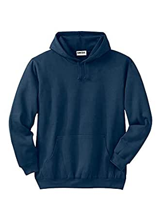 KingSize Men's Big & Tall Fleece Pullover Hoodie, Navy Big-2Xl