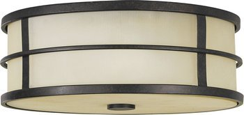 Feiss FM257GBZ Fusion Glass Flush Mount Ceiling Lights, 3-Light, 180watts, Bronze (14