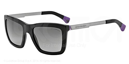 de837426fcf EMPORIO ARMANI Sunglasses EA 4017 501711 Black Violet 53MM  Emporio Armani   Amazon.co.uk  Clothing
