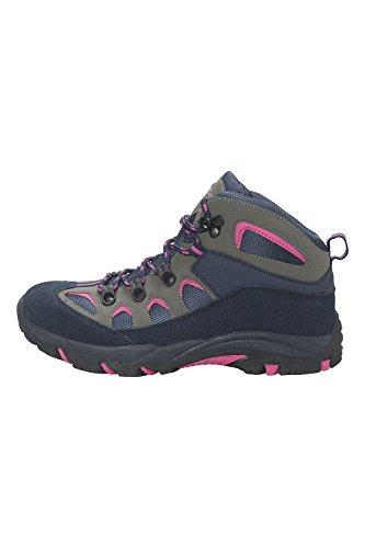 Mountain Warehouse Oscar Kinder Jungen Mädchen Velour Wanderstiefel Schuhe Stiefel Wanderschuhe Marineblau 34