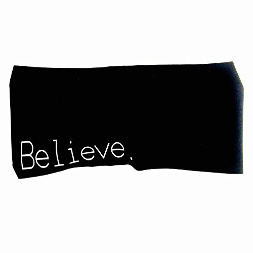 Hippie Runner Believe. Headbands Sweat Wicking Headband. Sweatband & Sports Headband for Running, Crossfit, Working Out Or Around The House. Moisture Wicking.
