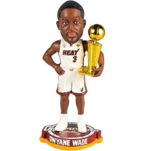 (Dwyane Wade Miami Heat Bobblehead 2013 NBA Champs Trophy Bobble Head)