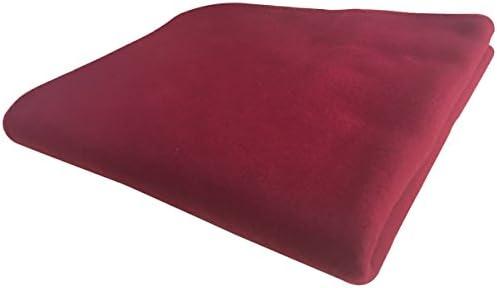KiGATEX Polar-Fleecedecke in vielen Farben 130x160 cm pflegeleicht für Innen oder Außen (Bordeaux)