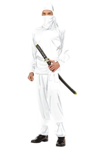 White Ninja Master Teen Costume By RG Teen Size (Ninja Master Adult Costumes)