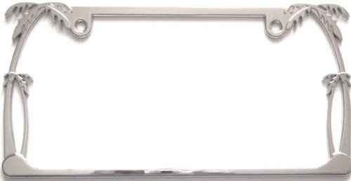 amazoncom palm tree chrome license plate frame automotive