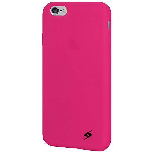 Amzer Silicone Skin Jelly Case pour iPhone 6 – Rose vif