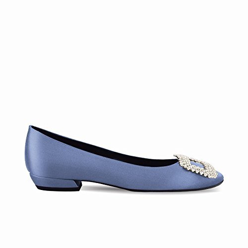 Zapatillas Hebilla heels Segundo Primavera con Verano Planos Taladro de de High Las 38 Zapatos Redondas de Ballet y Poco de Trabajan wFqnEY