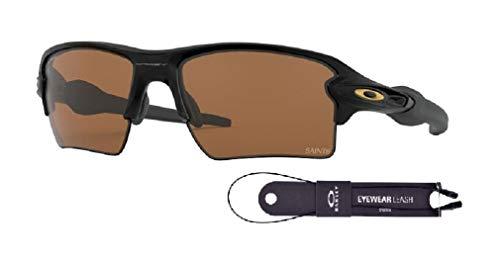 Oakley Flak 2.0 XL NFL New Orleans Saints OO9188 9188D8 59M Matte Black/Prizm Tungsten Rectangular Sunglasses For Men For Women+BUNDLE with Oakley Accessory Leash Kit
