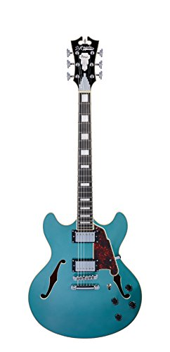 D'Angelico Premier DC Semi-Hollow Electric Guitar w/ Stop-Bar Tailpiece – Ocean Turquoise