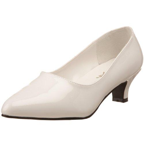 Schwarz FAB à Noir Chaussures Wht Femme Blanc Talons Pat Pleaser EU 420W FdwCx0qFT