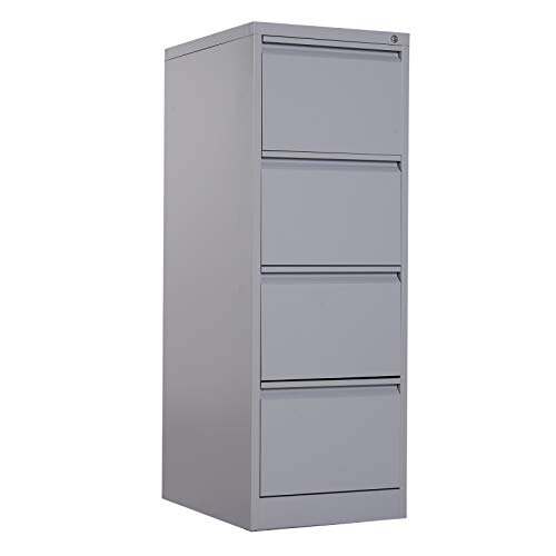 (Vinsetto Metal 4 Drawer Vertical Locking Filing Cabinet)