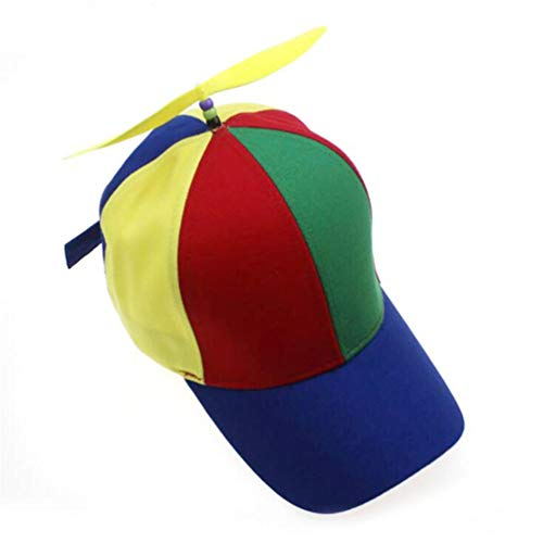 Kids Snapback Cap for Parent Child Multicolor Propeller Baseball Hat Outdoor Sun Hat with Visors Yellow for Adult (56-61cm)]()