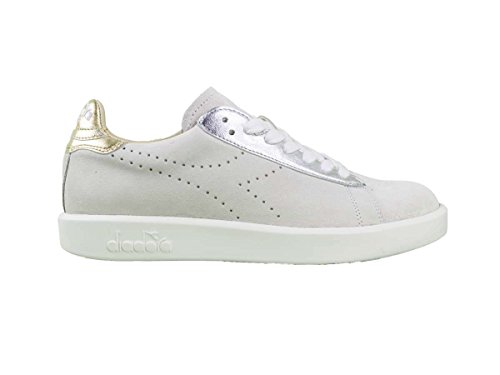 Diadora Heritage, Donna, Game Luxury White, Suede / Pelle, Sneakers, Bianco