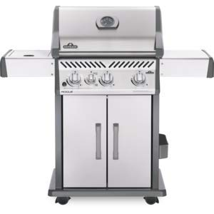 45000 Btu Electronic Ignition - Napoleon Grills Rogue 425 Natural Gas Grill, Stainless Steel