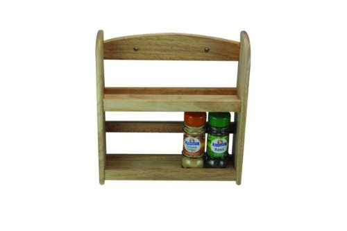 Apollo 2-Tier Spice Rack, Wood, Natural, 24.5 x 7 x 27 cm 6328