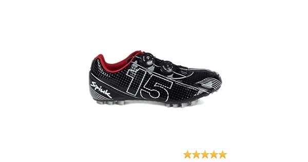 Spiuk 15 MTB Carbono - Zapatilla de ciclismo unisex, color negro/blanco, talla 41: Amazon.es: Deportes y aire libre
