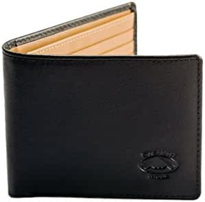 Stealth Mode Leather Wallet for Men - Bifold Wallet with RFID Blocking Technology