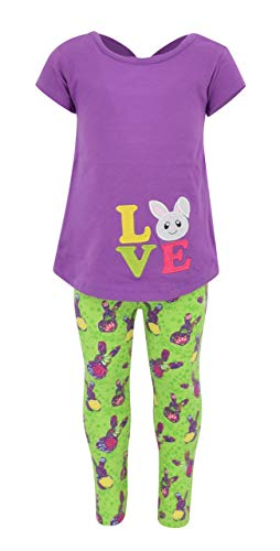 Shirt Easter Top - Unique Baby Girls Easter Bunny Love 2 Piece Outfit (8) Green