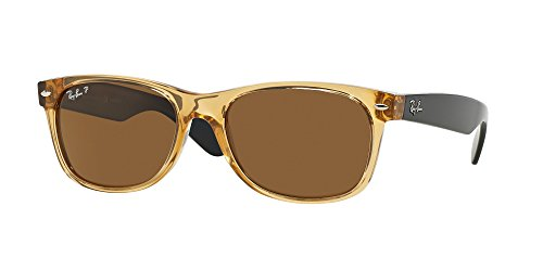 Ray Ban RB2132 945/57 55M Honey/Crystal Brown Polarized NEW - Brown Bans Ray Wayfarer