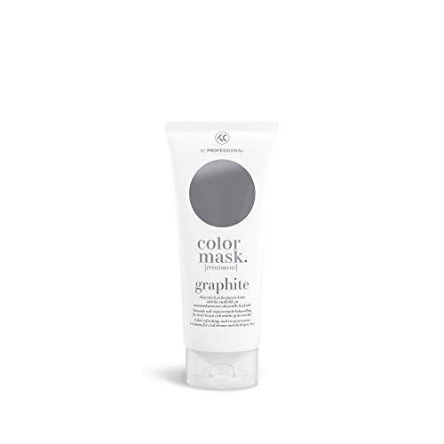 Color Mask Graphite Reconstructive Treatment - Color Maintaining Conditioner for Gray Color Treated Hair and for Cool Brown Hair, Brass Remover for Brown Hair, 6.76 oz - NOT FOR BLONDE HAIR! (Best Toner For Brown Hair)