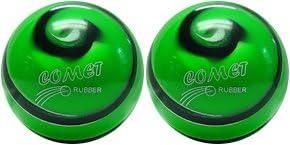 EPCO Duckpin Bowling Ball- 2 Comet Pro Rubber - Green, Black & White Balls